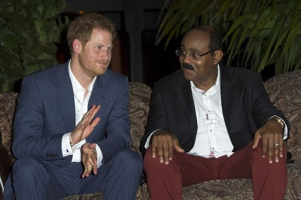 Prince Harry met Prime Minister of Antigua and Barbuda Mr Gaston Browne last November